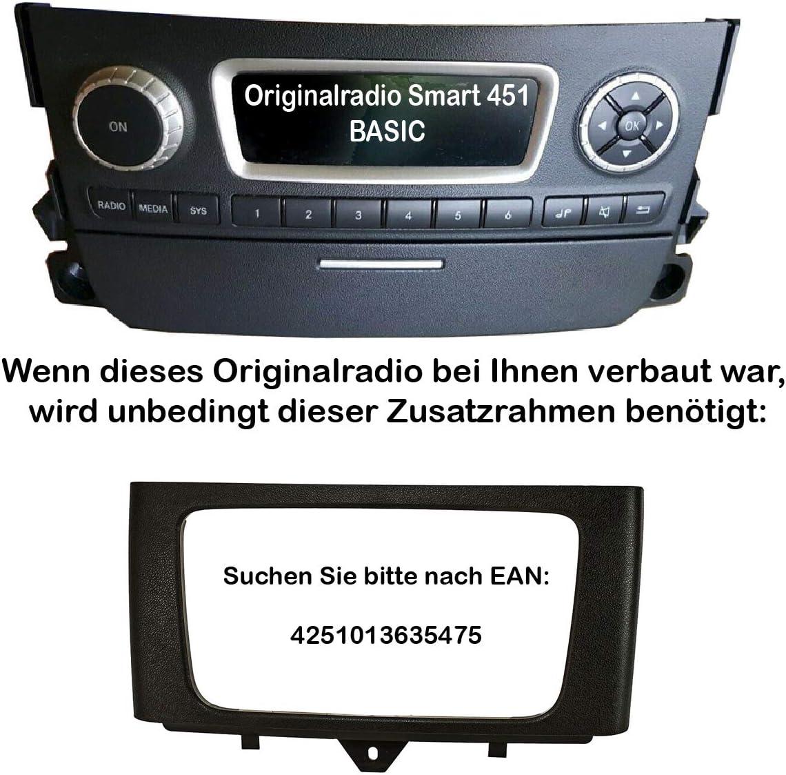 Tomzz Audio 2451 039 Doppel Din Radioblende Set Elektronik