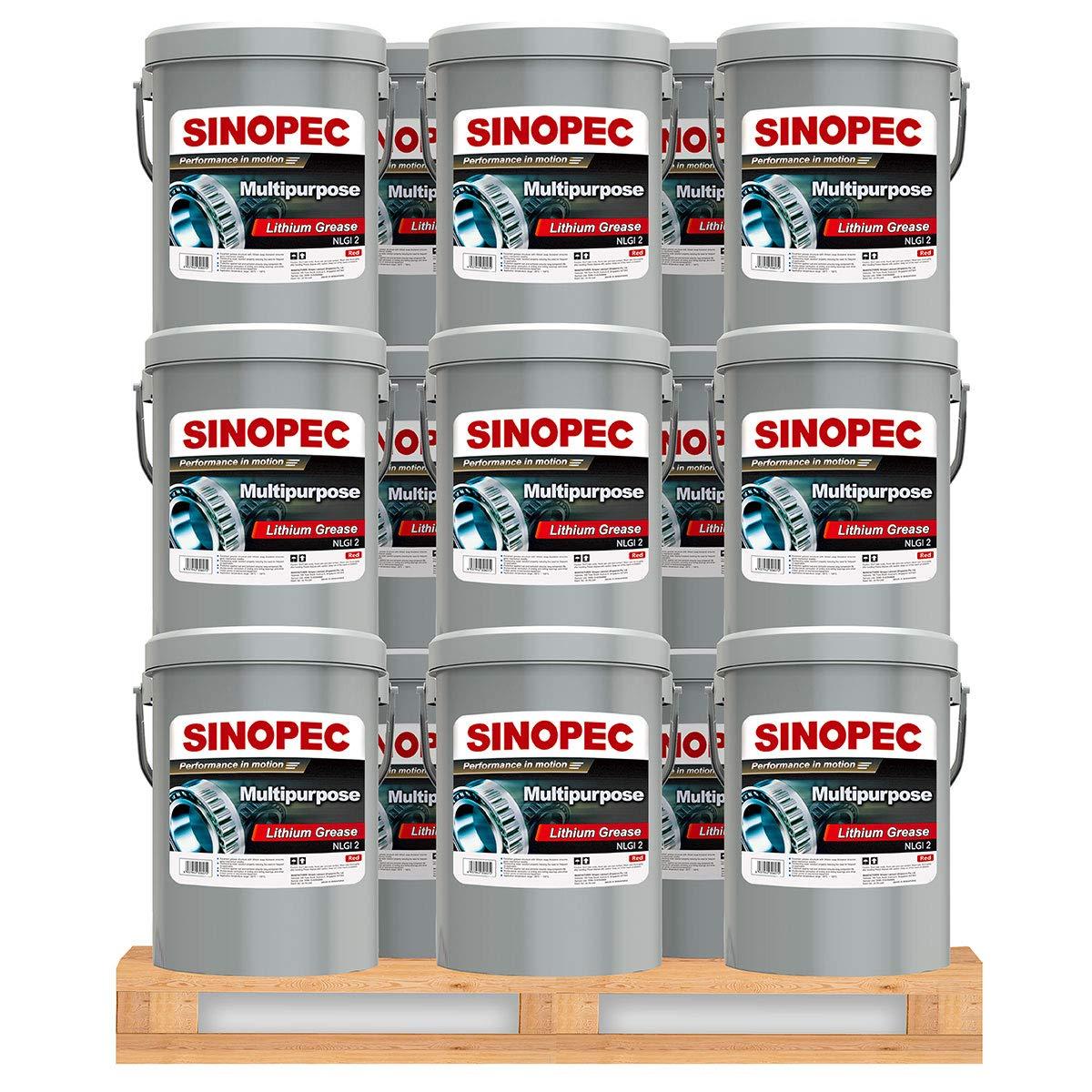 Sinopec Red Multipurpose Lithium Grease #2-35LB. (5 Gallon) Pail (36)