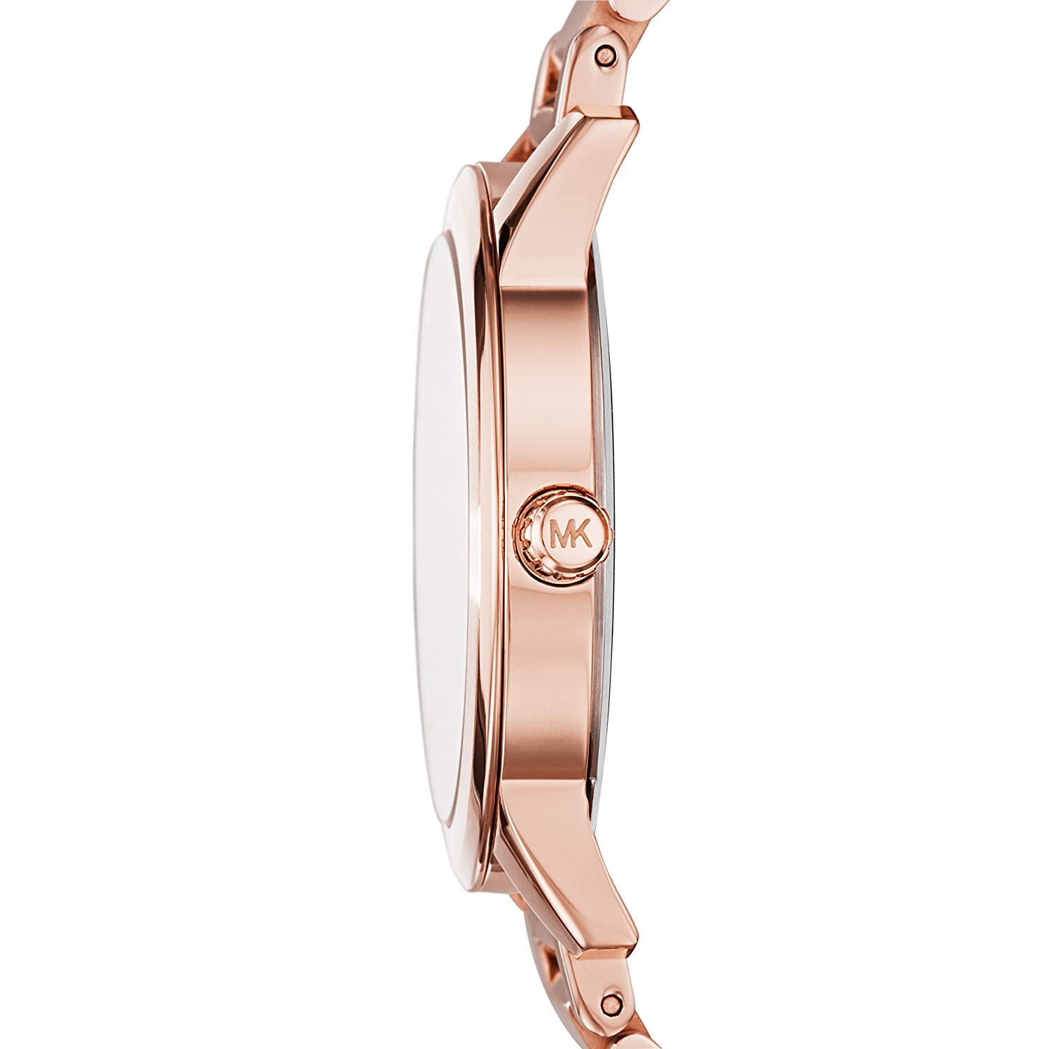 Amazon.com: Michael Kors MK3491 Ladies Hartman Rose Gold Steel Bracelet Watch: Watches
