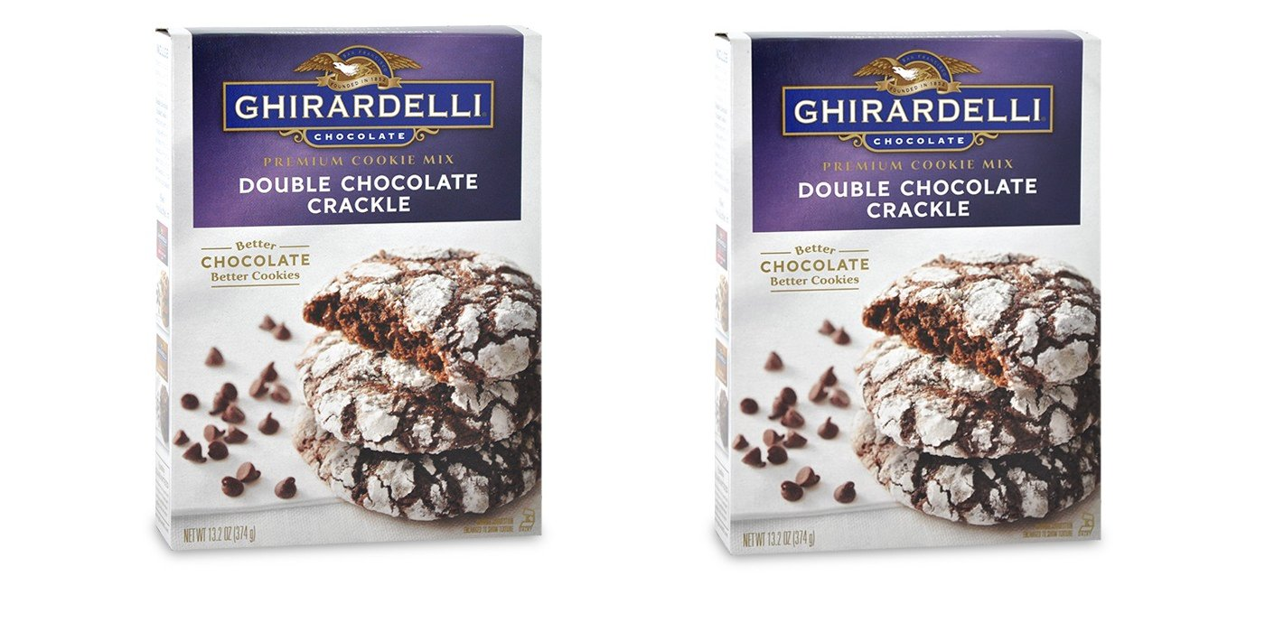 Ghiradelli Double Chocolate Crackle Premium Cookie Mix, 13.2 oz. (Pack of 2)