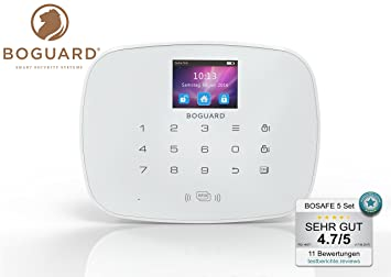 Funk GSM Alarmanlage BOSAFE 5 –Zertifiziert nach EN 50131/1 Klasse 2 ...