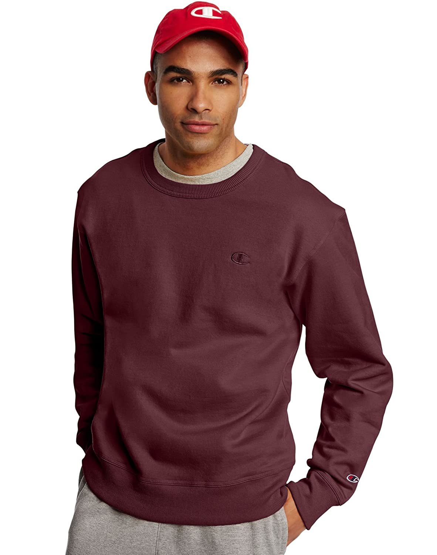e071e737d0c5 Champion Men s Powerblend Fleece Pullover Sweatshirt  Amazon.co.uk  Clothing