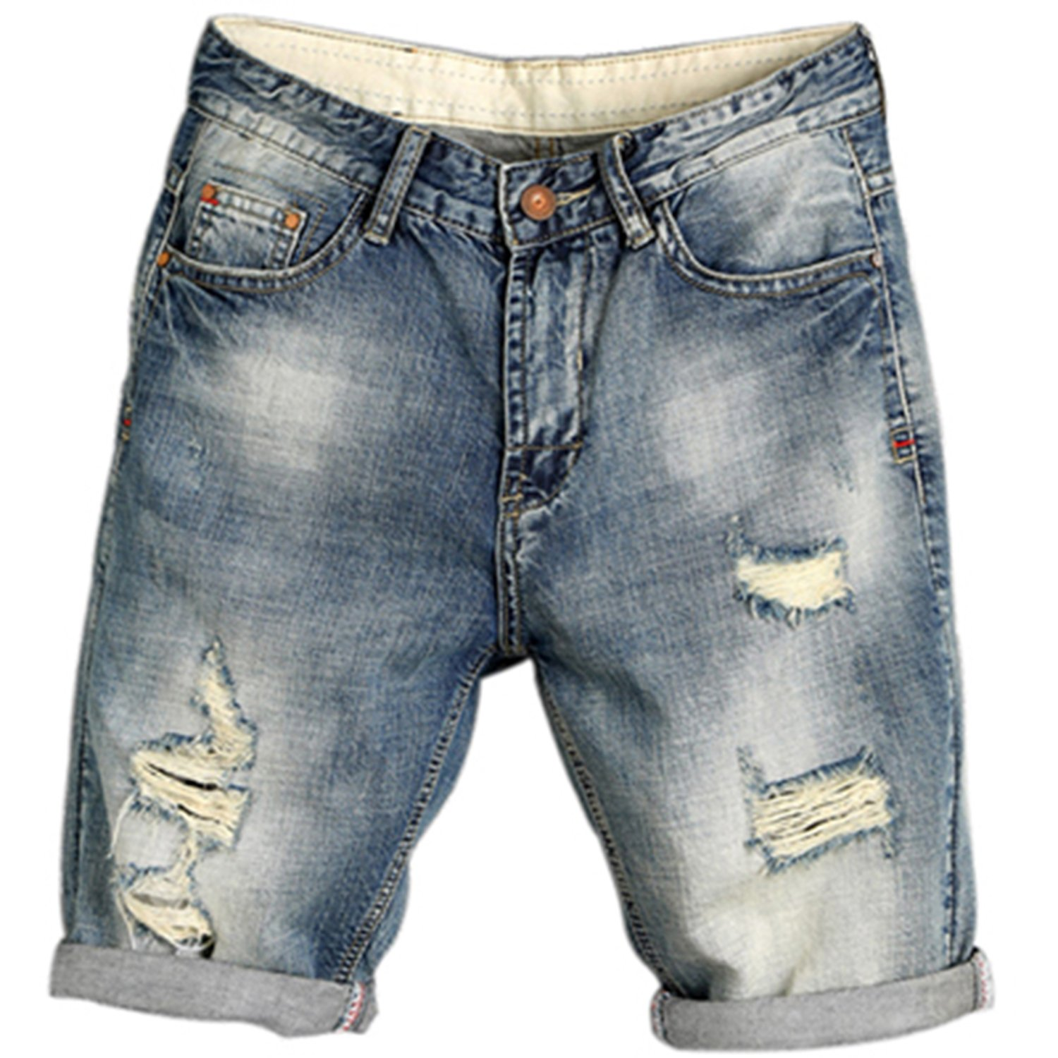 Yamed Gouache 2018 Summer Mens Denim Shorts Male Jeans Thin Fashion Brand Male Jeans