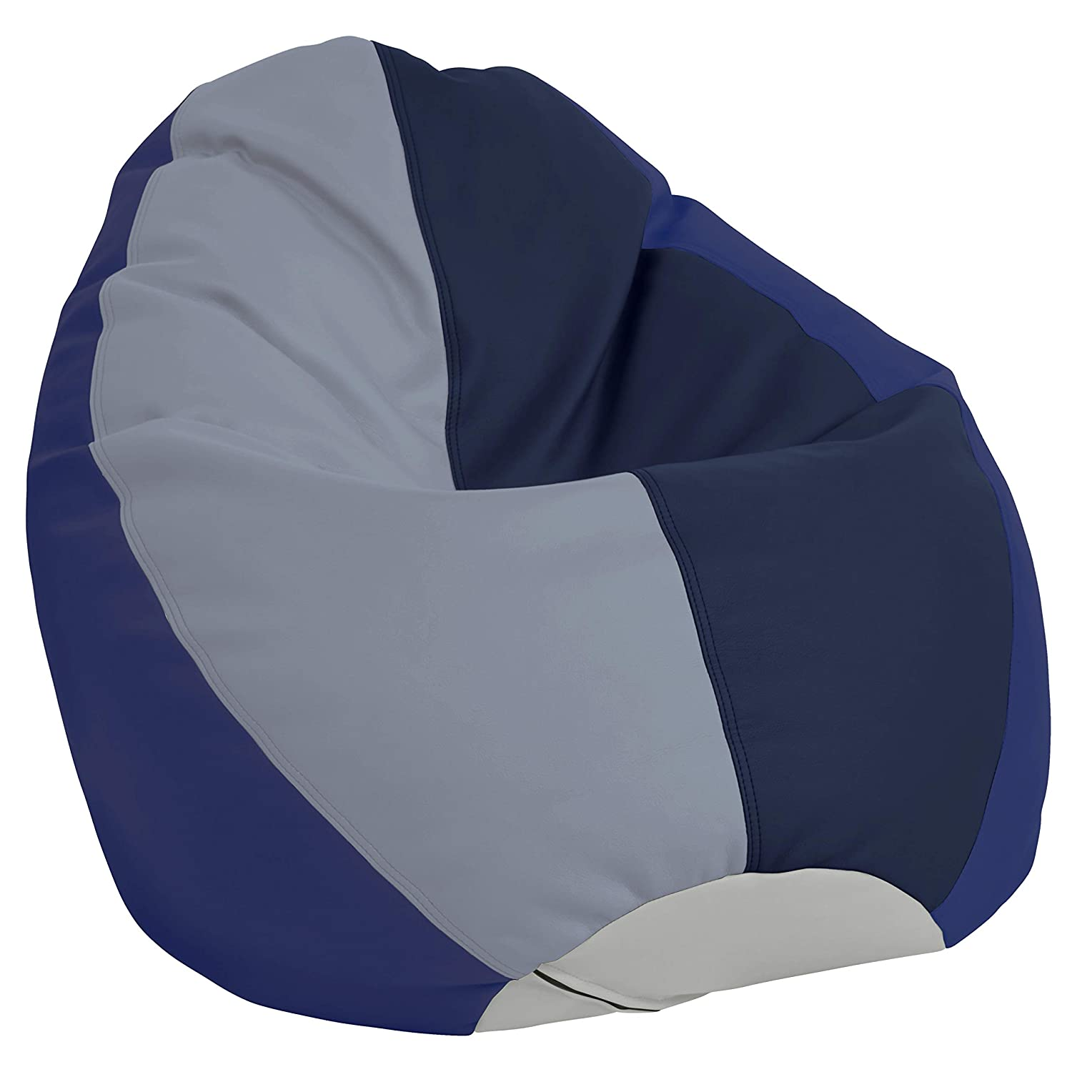 FDP SoftScape Dew Drop Bean Bag Chair with Supportive High-Back Design, for Kids, Teens and Adults, Alternative Seating for Dorms, Schools, Libraries, Daycares or Home- Navy/Powder Blue