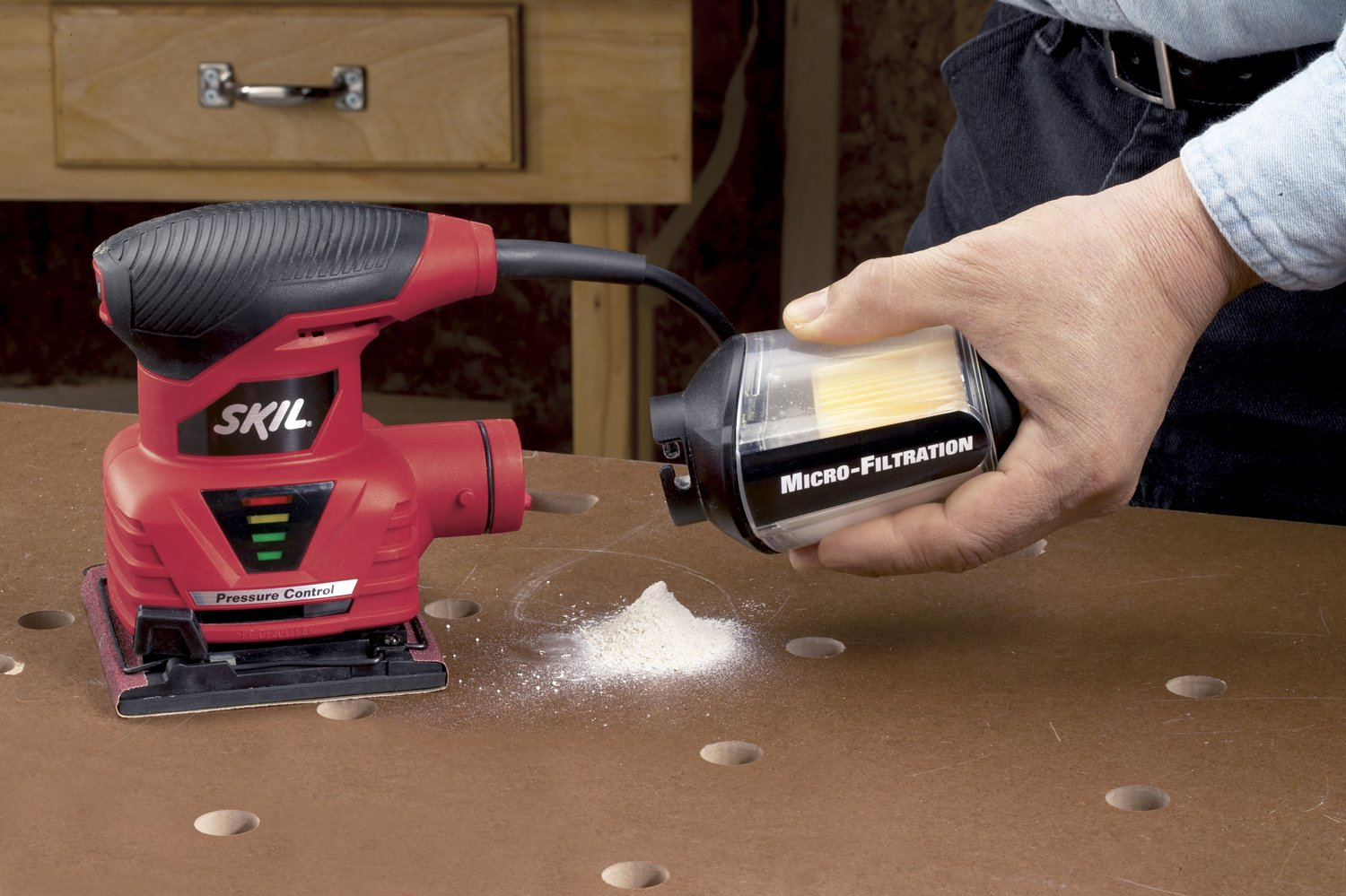 SKIL 7292-02 2.0 Amp 1/4 Sheet Palm Sander with Pressure Control by Skil (Image #4)