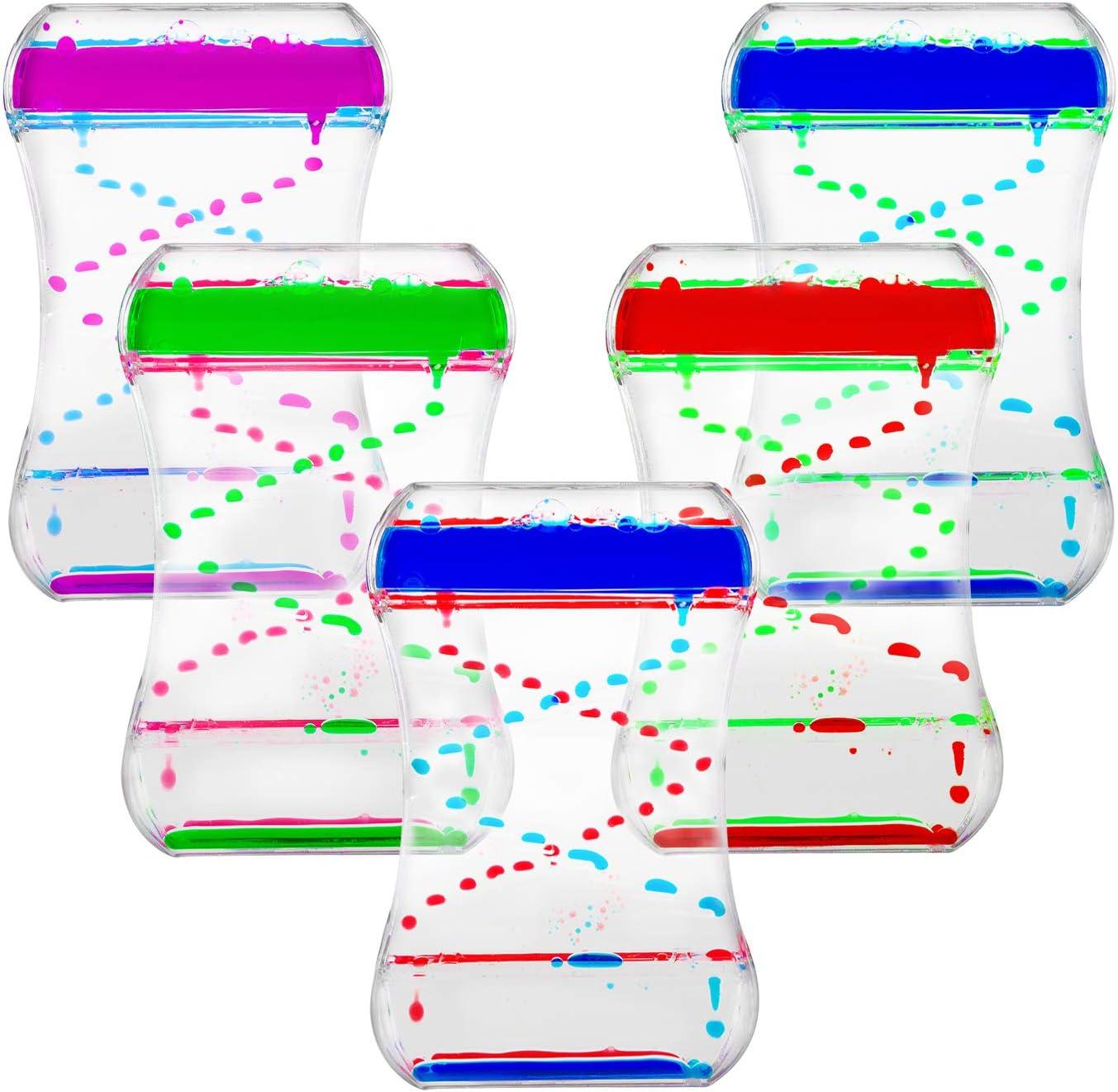 Super Z Outlet Liquid Motion Bubbler for Sensory Play, Fidget Toy, Children Activity, Desk Top, Assorted Colors (Style #2)