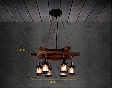 Plafoniere A Sospensione Per Negozi : Shengye stile rustico plafoniera lampada a sospensione antico