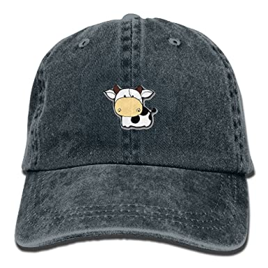 Amazon.com  WATSONIO Cubs Baseball Hat Cute Little Cow Adjustable Cowboy  Hats Stylish Navy  Clothing b154393cf7f