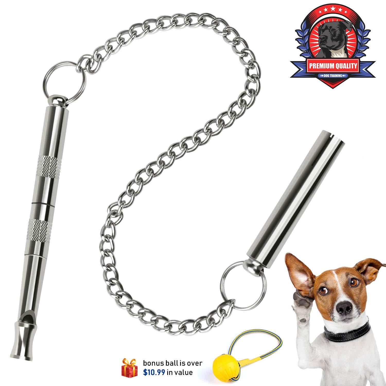 Dog Whistle, Professional Ultrasonic Dog Training Whistle to Stop Barking,Adjustable Pitch Ultrasonic Recall Training Tool Dog Bark Control Whistle with Free Premium Quality