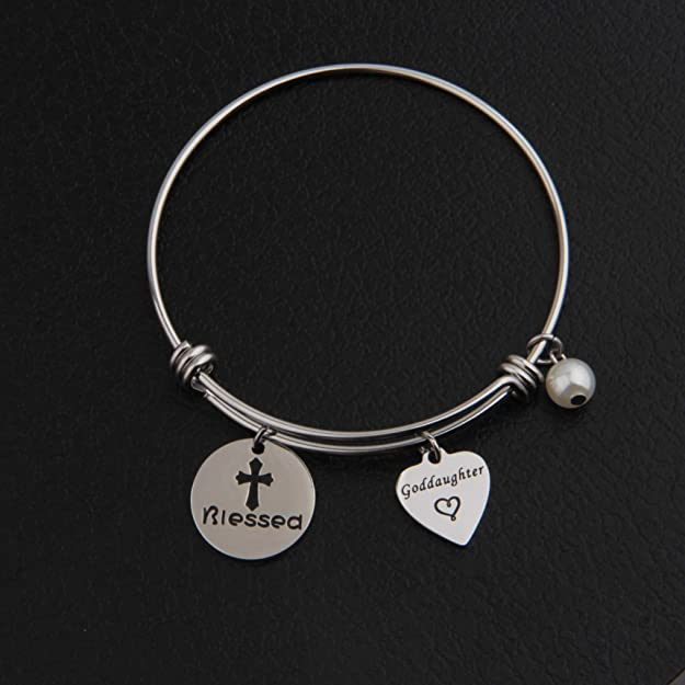 RQIER Goddaughter Gift Love Above You Below You All Around You Bracelet First Communion Gift