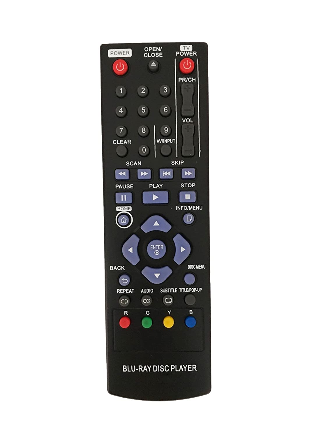 New Replacement Remote Control for BP120 BP125 BP255 BP350 BD651DN LG  Blu-Ray DVD Player