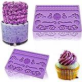 IC ICLOVER Food Grade Silicone Lace Cake Mold, Fondant Gum Paste Mold Cake Mold, Soap Mold, DIY Cake Decorating