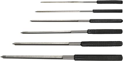 Set of 6 Large Cutting Broaches in Case 2.4 5.2 6.2 mm Jewelry Making Wax Tap and Die Tool 2.7 3.2 4.2