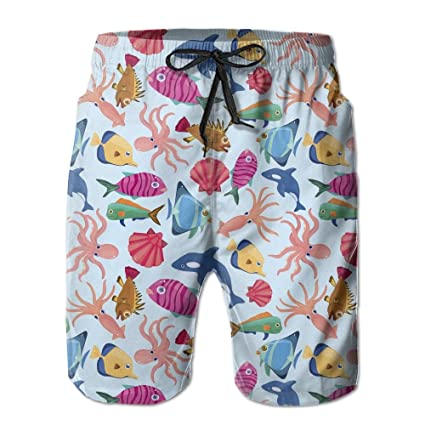 Mens Summer Surf Swim Trunks Beach Shorts Pants Quick Dry with Pockets