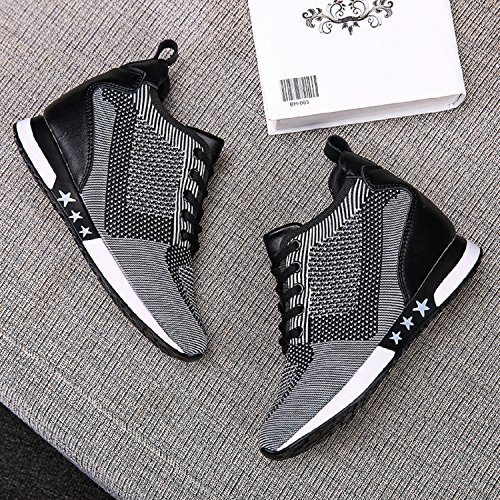 High Shoes Womens Mesh Hidden High Heels Top TQGOLD Fashion Height Gray Sneakers Increase Wedges Elevator pftwxq
