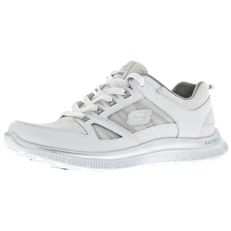 Skechers Flex Appeal Spring Fever Damen Sneakers  37 EU|Wei?/Silberfarben