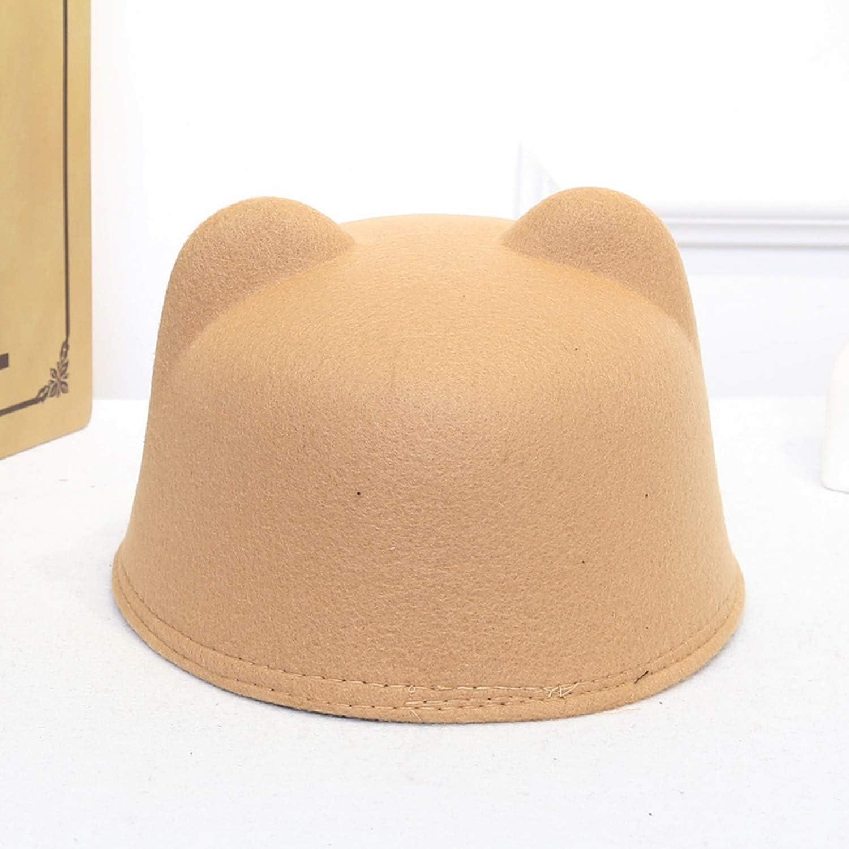 Children Caps Cat Ear Woolen Hat for Girls Panama Cap Kids Winter Hats