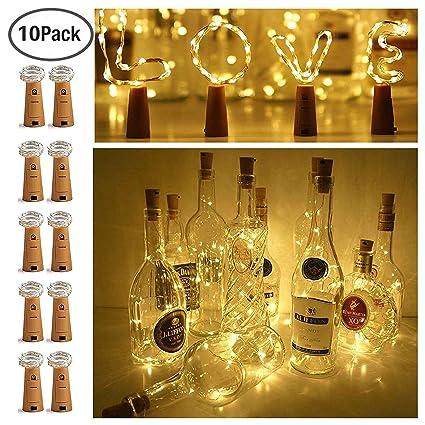 15 led bottle cork string lights wine bottle fairy mini string lights copper wire battery
