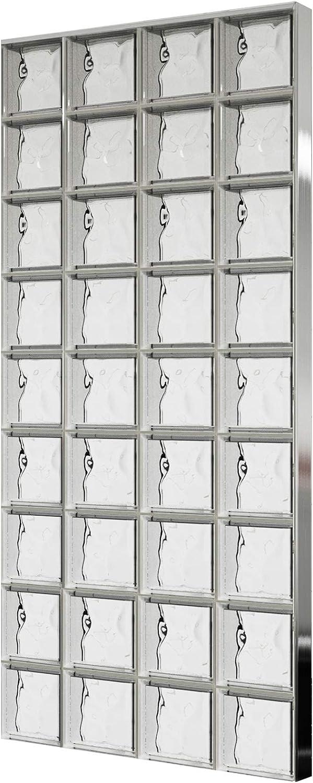 Bloques de vidrio mamparas de ducha JUEGO COMPLETO 156x175,5 cm ...