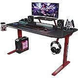 Foxemart Gaming Desk 47 inch PC Gaming Desk, Game Computer Desk Workstation, T-Shaped Professional Gaming Desk, Home Office C