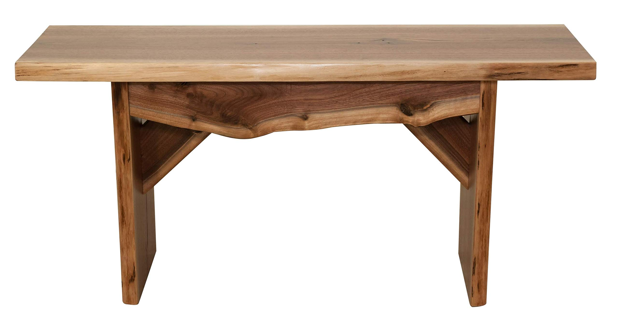 Hope Woodworking Live Edge Bench, 3 Foot, Solid Rustic Walnut Wood, Amish Made, 36'' by Hope Woodworking (Image #2)