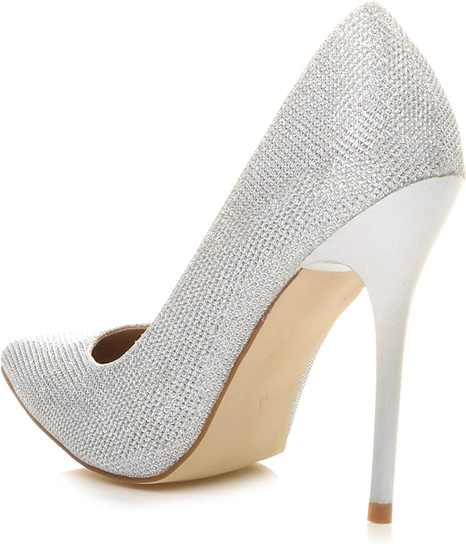Womens Ladies high Heel Stiletto Smart Work Wedding Evening Pointed Court Shoes Size