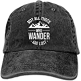 OEAJRNA Not All Those Who Wander Are Lost Jeans Caps Classic Adjustable Hat For Mens And Womens