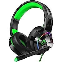 ZIUMIER Auriculares para Juegos para PS4, PS5, Xbox One,PC, Cascos Gaming con Micrófono con Cancelación de Ruido y Luz…
