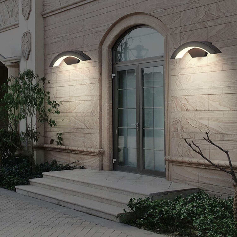 7W bridgelux COB//Balcony//Garden//Porch Gray Warm White 20CM Topmo-plus Wall Spotlight Porch wash Light Downward LED Wall Sconce Classic Wall Light Garden Wall Sconce Lighting