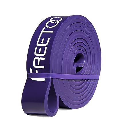 FREETOO Bandas de Resistencia de Goma Fitness Cinta de Resistencia para el Entrenamiento de Fuerza/