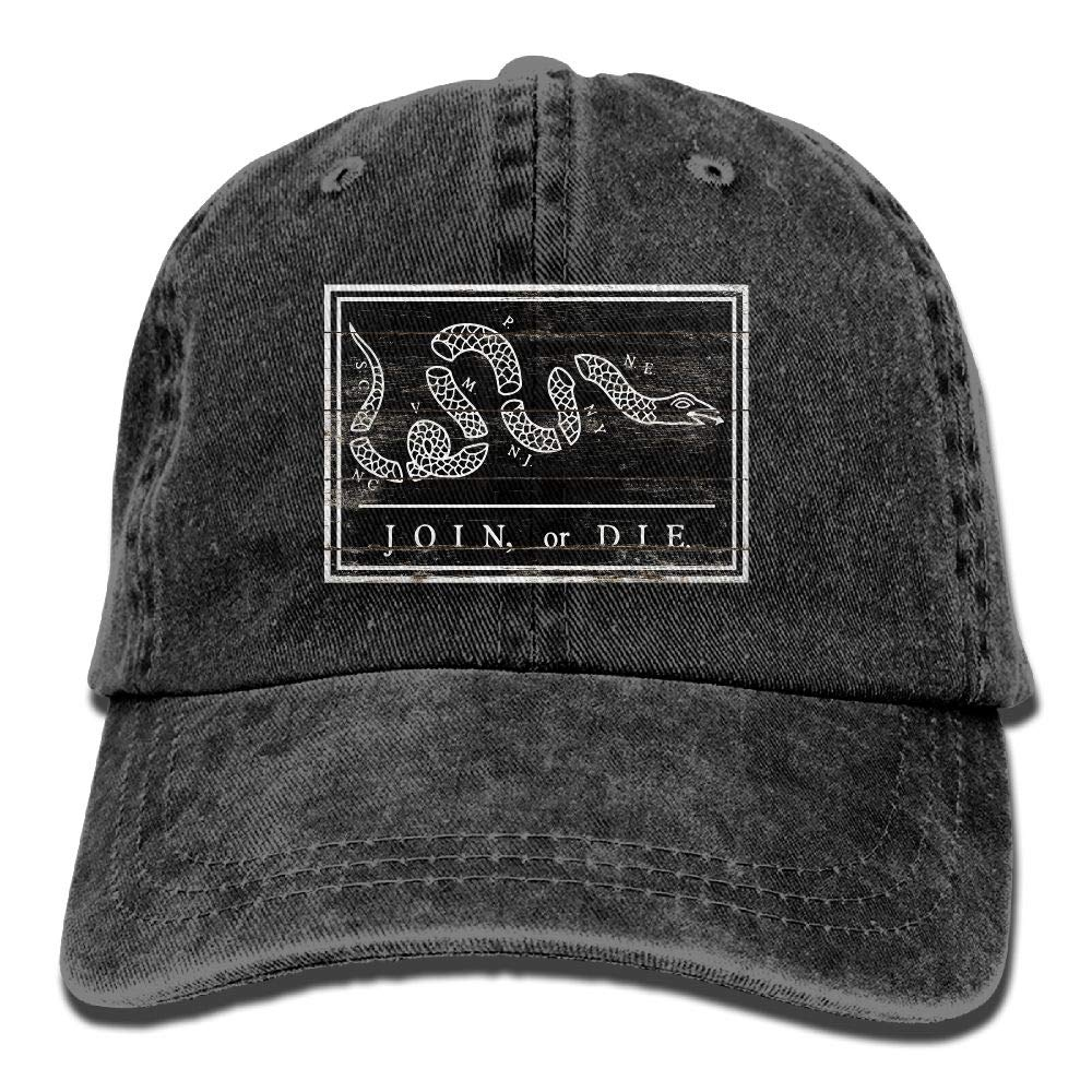 ecf10e24 Amazon.com: US Join Die Snake Colonial Revolutionary War Military Flag  Vintage Adjustable Dad Hat Classic Baseball Cap: Clothing
