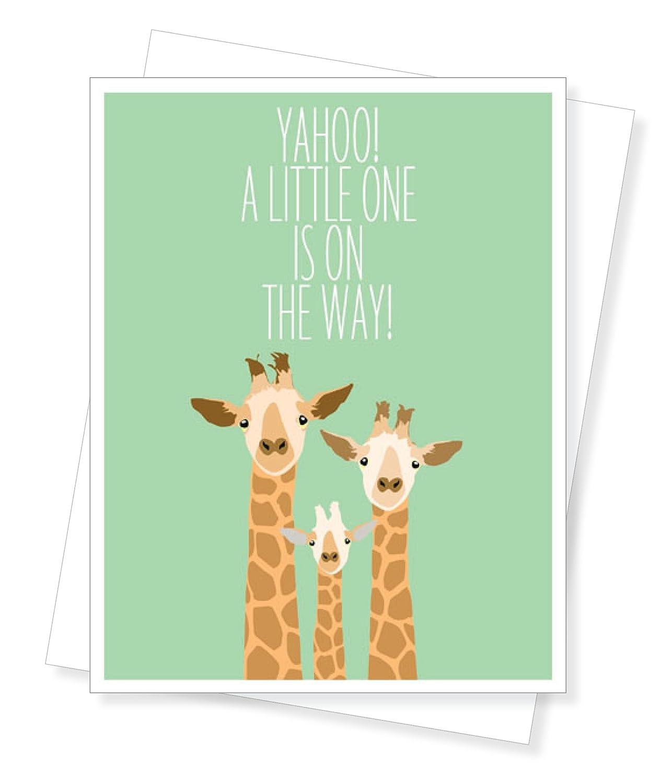 Amazon Baby Giraffe New Baby Baby Shower Greeting Card Arts