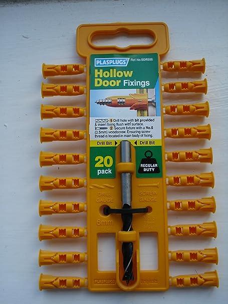 Plasplugs Hollow Door Plugs u0026 Drill Bit 20 Pack & Plasplugs Hollow Door Plugs u0026 Drill Bit 20 Pack: Amazon.co.uk: DIY ...