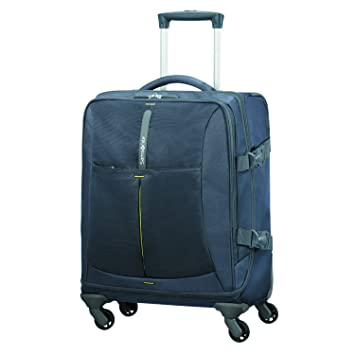 SAMSONITE 4mation - Spinner Duffle Bag 55/20 Bolsa de Viaje, 55 cm, 39 Liters, Azul (Midnight Blue/Yellow): Amazon.es: Equipaje