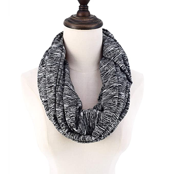 Infinity Scarf With Pocket Travel Scarf Hidden Zipper Pocket Women