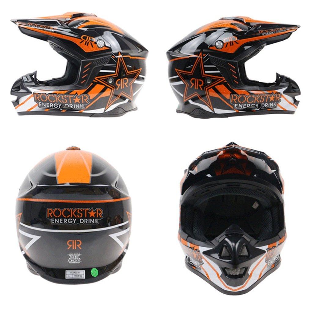 DGF ヘルメット着脱式ライニングオートバイオートバイオフロード会場レーシングヘルメット調整可能なオフロードヘルメット (色 : B, サイズ さいず : L l) B07FN2BRVF L l|B B L l