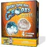 Geode Starter Rock Science Kit – Crack Open 4 Amazing Rocks and Find Crystals!