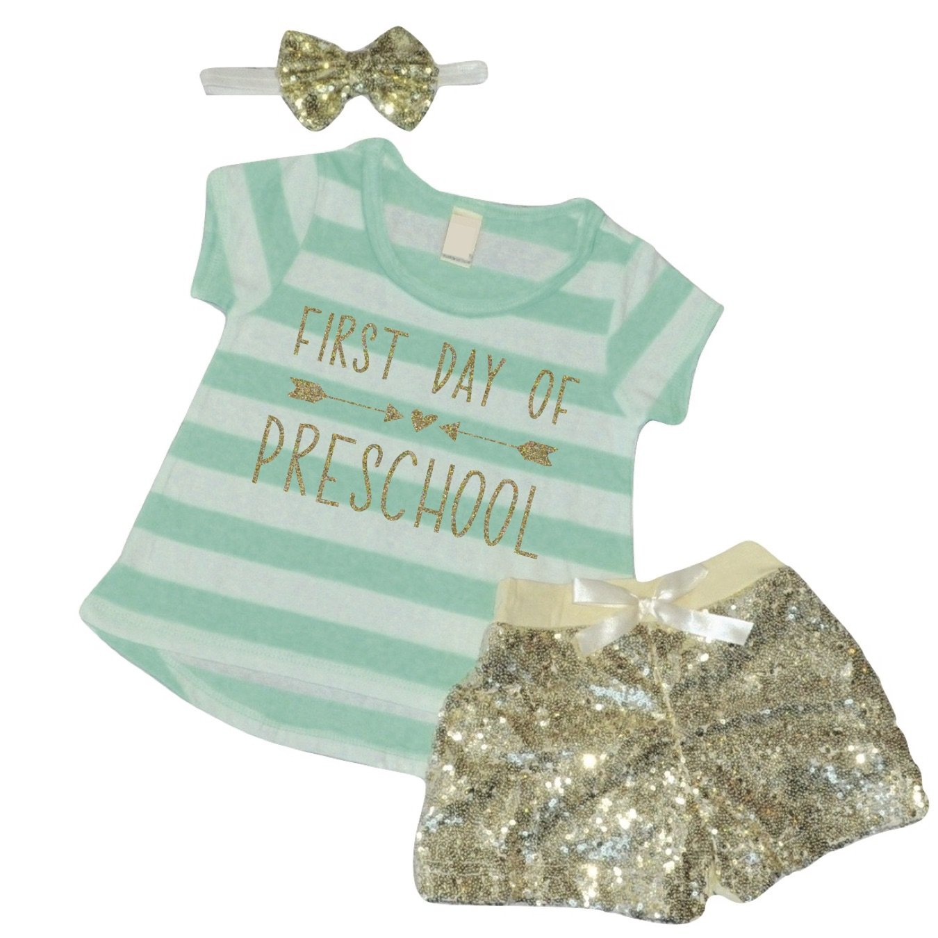 Amazon Com 1st Day Of Preschool Outfit Girl Back To School