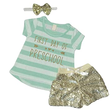 Amazon.com  First Day of Preschool Outfit 704f84af86
