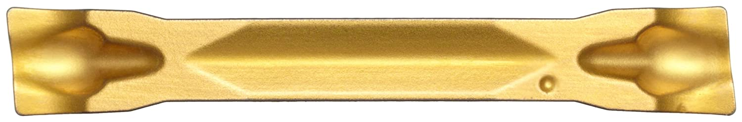 Sandvik Coromant CoroCut 2-Edge Carbide Profiling Insert Multi-Layer Coating 2 Cutting Edges GC2135 Grade F Insert Seat Size 0.0059 Corner Radius Pack of 10 R123F2-0250-0501-CF
