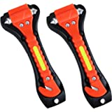 VicTsing 2 Pack Car Safety Hammer, Emergency Escape Tool with Car Window Breaker and Seat Belt Cutter, Life Saving…