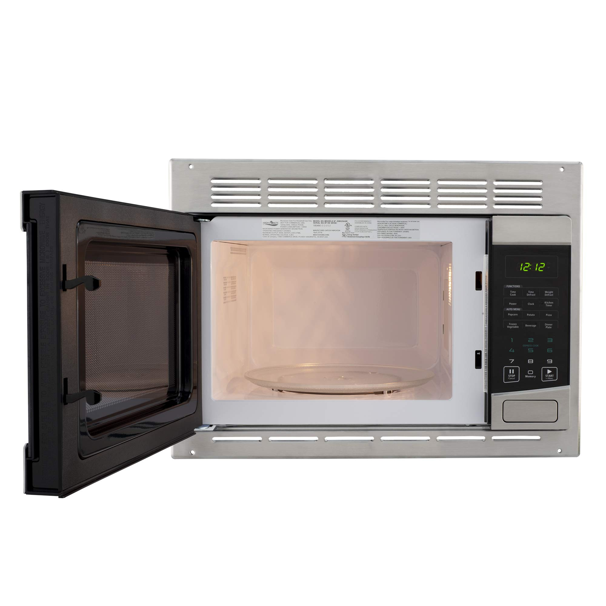 RecPro RV Stainless-Steel Microwave 1.0 cu ft. With Trim Package EM925AQR-S by RecPro (Image #3)