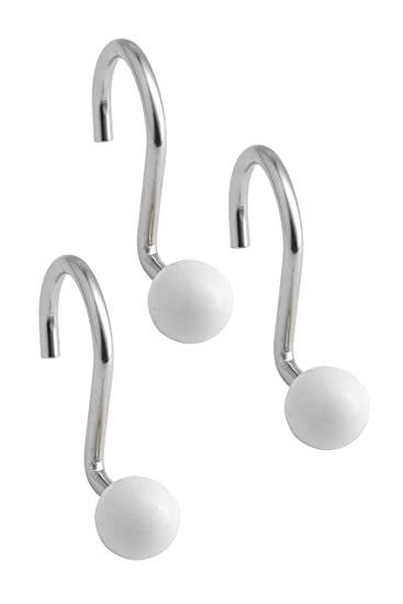 Popular Bath Ball Metal Shower Hooks, White
