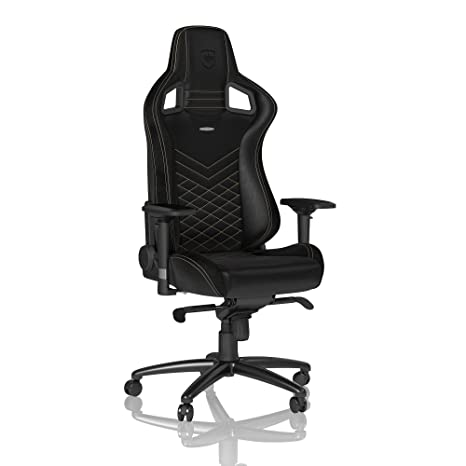 competitive price 51a04 b0366 noblechairs Epic Gaming Chair - Office Chair - Desk Chair - PU Faux Leather  - 265 lbs - 135° Reclinable - Lumbar Support Cushion - Racing Seat Design  ...