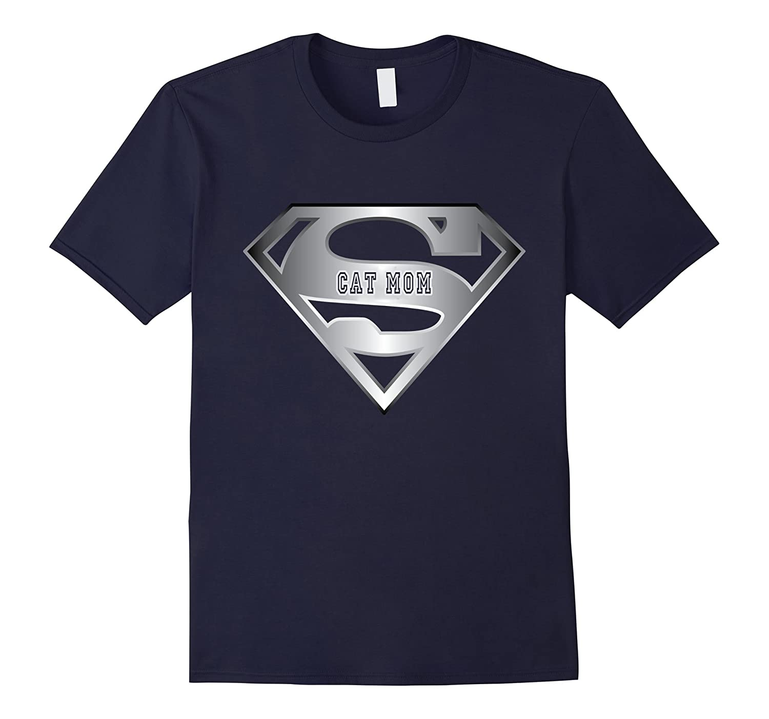 Super cat mom shirt gift for superhero Mothers day T-shirt-Vaci