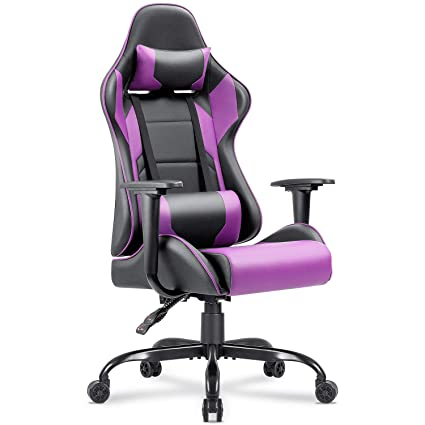 Amazon.com: Homall Gaming Chair Racing Office Chair Computer Desk ...