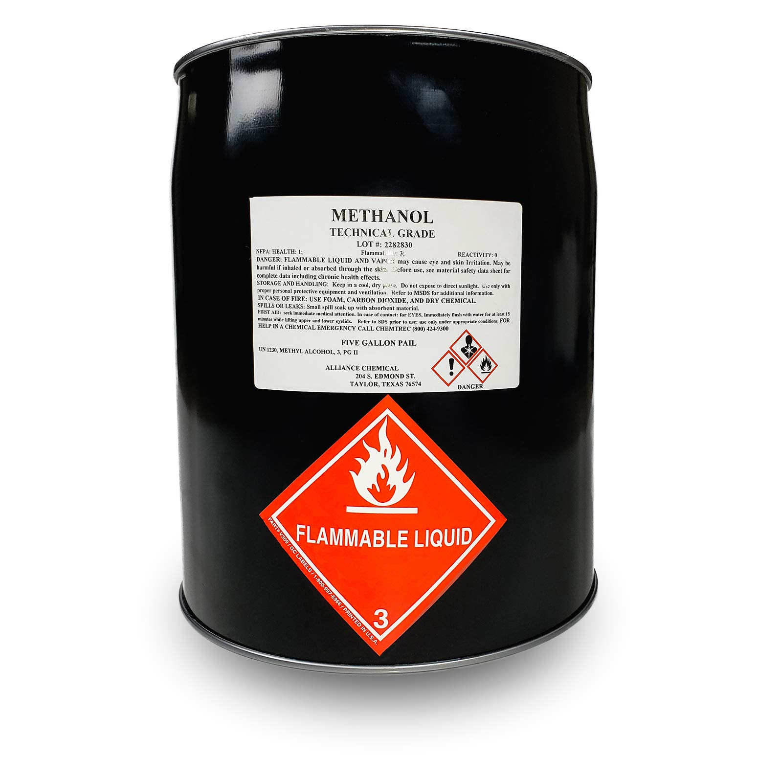Methanol Technical Grade - Five Gallon Metal Pail