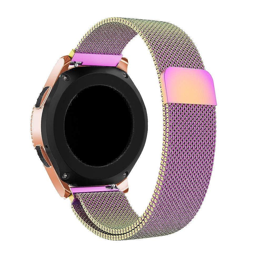 Samsung Galaxy Watch 42mm Cadena Reloj para Mujer y Hombre de Magnético Correa Elegante Brazalete de Manera Pulsera Milan Wristbands Inteligente Strap: ...