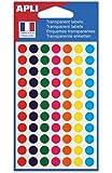 AGIPA Sachet de 385 étiquettes Gommettes de signalisation Rondes 8 mm Assorties Transparente
