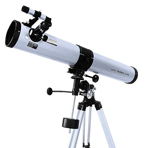 """555 opinioni per 900-76 EQ2 Telescopio riflettore con accessorio """"Big Pack"""" incluso"""